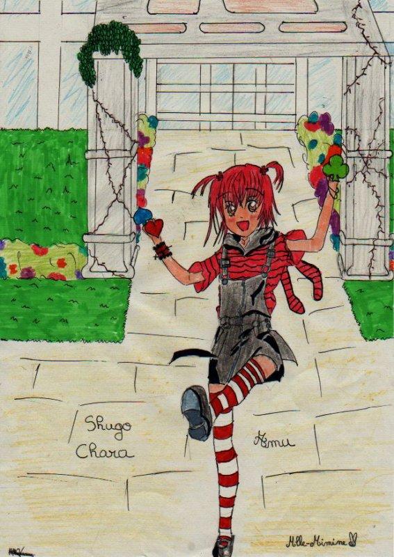Mon dessin pour le concours de Amu-Utau-Ikuto-Tadase