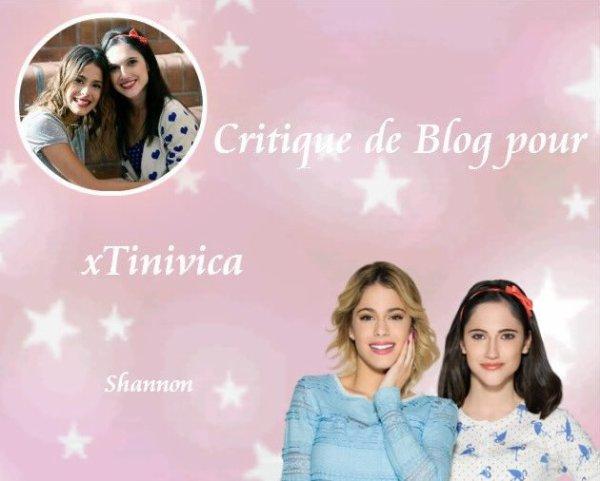Critique de Blog pour xTinivica ♥ De Love-Violetta-2013