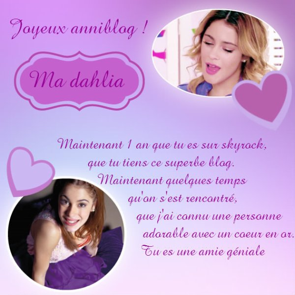 Joyeux anniblog ma dahlia/ViolettaCastillo45