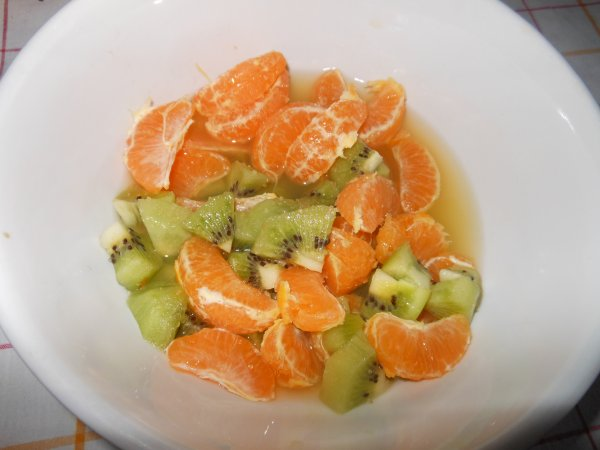 Salade de fruits clémentine-kiwi