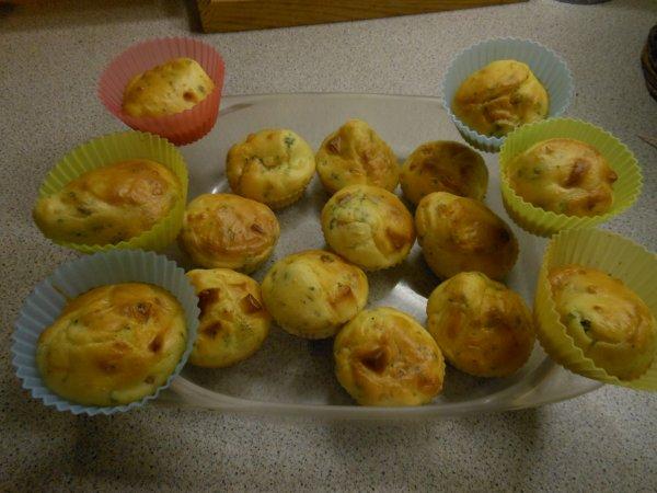 Muffins aux lardons et au gruyère