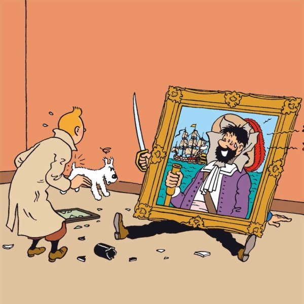 Tintin et Hadock