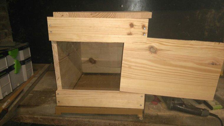 Fabrication de ma 2eme ruche Dadant vitrée
