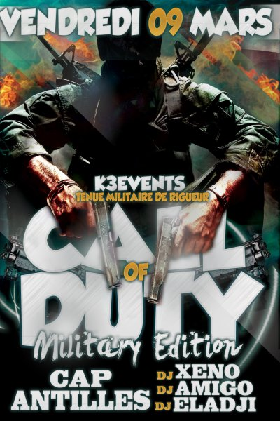 _••. K3 EVENTS_••. PRÉSENTE_••. CALL OF DUTTY _••. EDITION MILITARY_••.