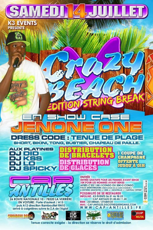 ►►CRAZY X BEACH EDITION STRiiiNG BREAK◄◄ AU CAP ANTILLES DE 900 PERSONNES ATTENDUS