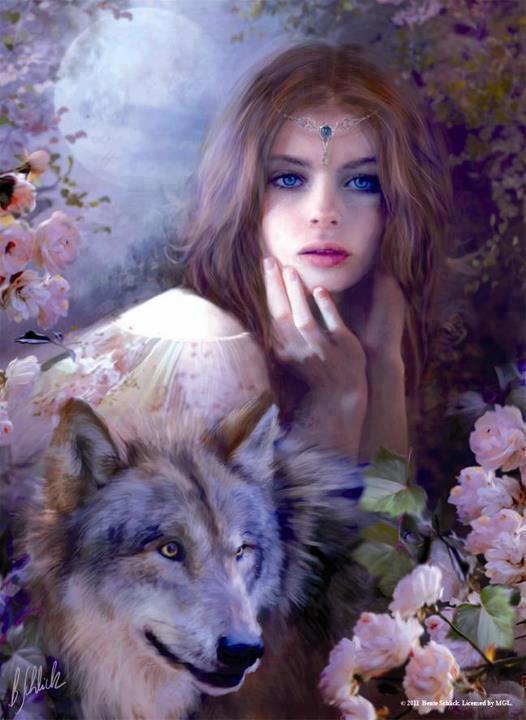 loup avec une femme le monde spirituel des loups indien ne s plus. Black Bedroom Furniture Sets. Home Design Ideas