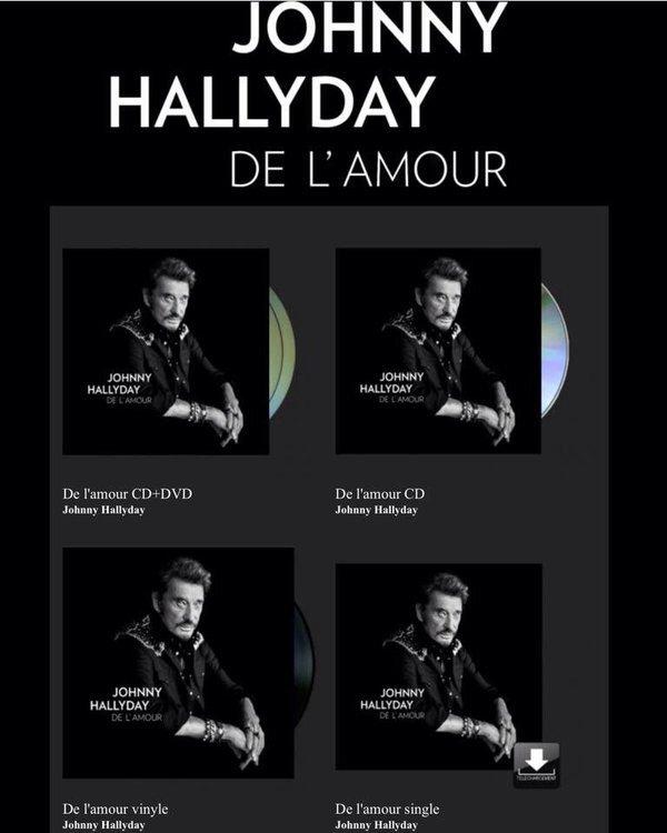 "Johnny Et Elvis >> JOHNNY HALLYDAY "" DE L'AMOUR "" CD ET DVD - Blog de roky60"