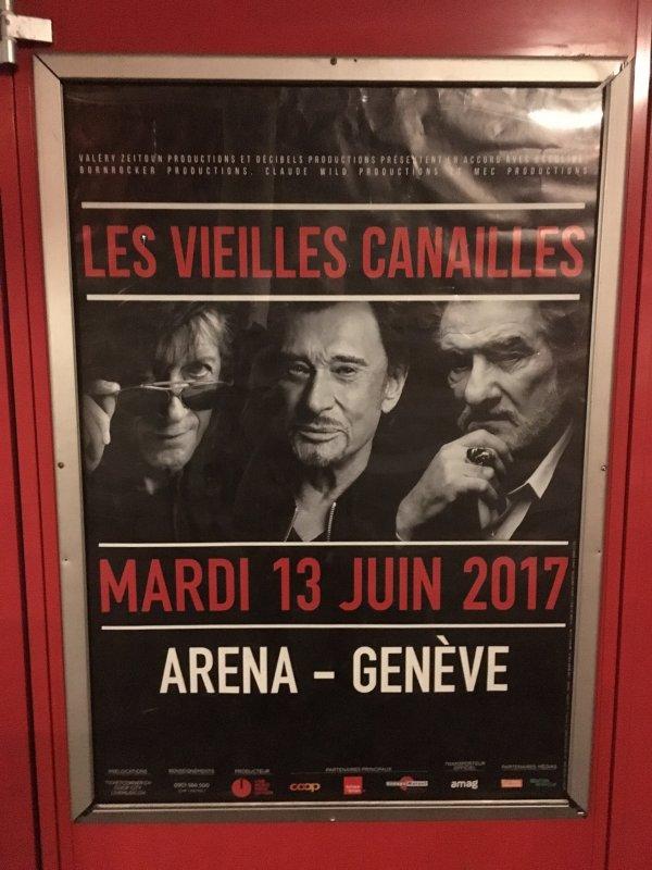 Les Vieilles Canailles à Genève le 13 juin 2017