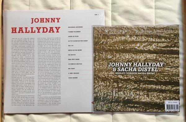LP JOHNNY HALLYDAY MADE IN HOLLANDE ET LAISSE LES FILLES ( VERSION ÉCOLE DES VEDETTES) PICTURE DISC RECTANGULAIRE
