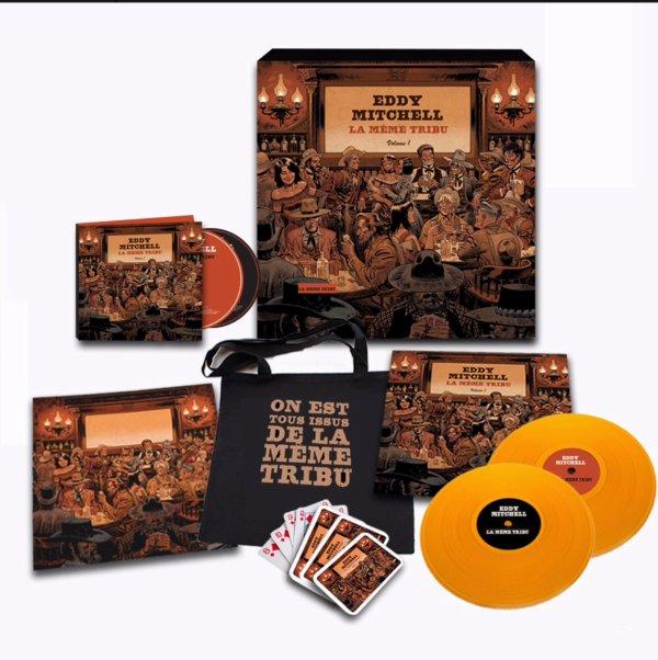 Sortie pour le 10 novembre, l'album d'Eddy Mitchell « la même tribu» Coffret Collector tiré à 1000 exemplaires