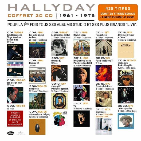 Coffret 20 CD Official 1961-1975 « Sortie 1 décembre  »