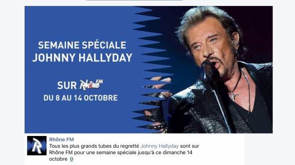 Semaine Johnny Hallyday sur la radio Rhône FM