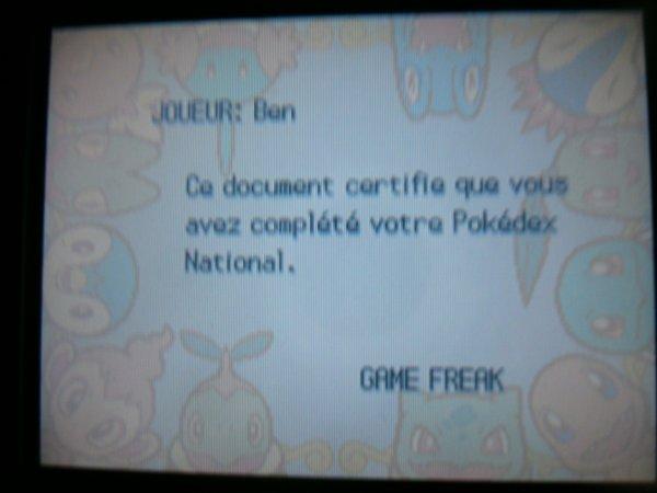 Carte dresseur noire Pokemon Platine et OR HeartGold