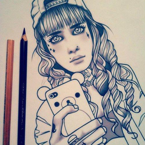 10 mon dessin : SELFiE avec NOUNOURSE
