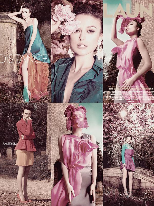 """Photoshoot; Le nouveau photoshoot de Keira pour le magasine """"Flaunt"""" est arrivé ! J'adore tout simplement! Les vêtements, les couleurs... tout"""