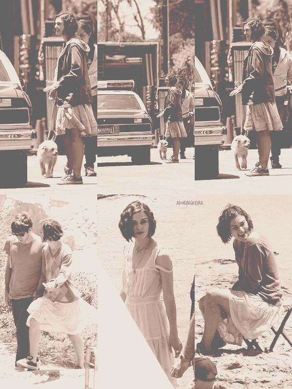25&26.O5.2O11; Keira sur le tournage de son nouveau film, à Pasadena Heureuse, souriante et accompagnée de son chérie, elle rayonne!