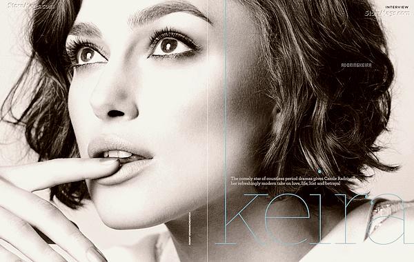 """Scans&Poster; Les scans du magasine Marie Claire Australien sont apparus ! - Poster de """"A Dangerous Method"""" Keira est juste sublime sur toute les photos, j'espère en voir d'autres venant d'un photoshoot :) - Rien de spécial à dire pour le poster."""