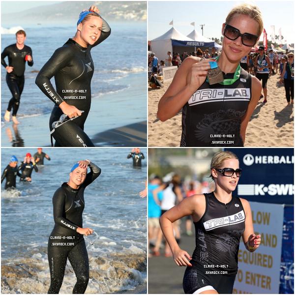 - 16|09|12 → Claire a participé au 26ème triathlon de Malibu.-