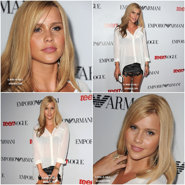 - 27|09|2012 → Claire était au Teen Vogue's 10th Anniversary Young Hollywood Party.-