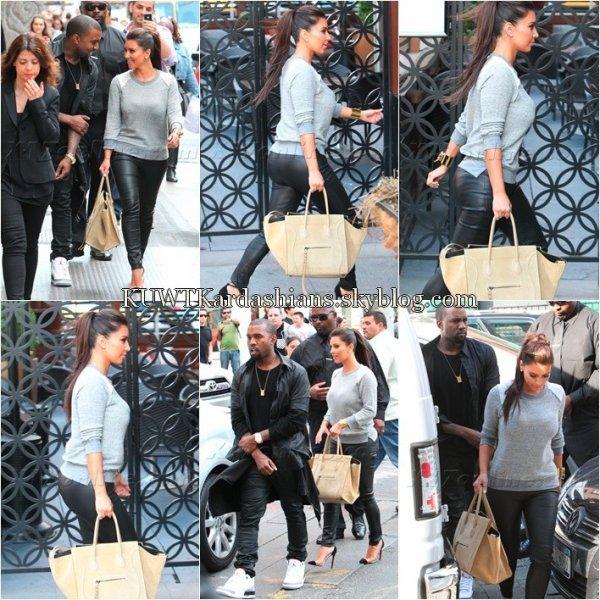"""22/04/12. Kim a était présente au lancement de """"Power Fawer"""" à Los Angeles."""