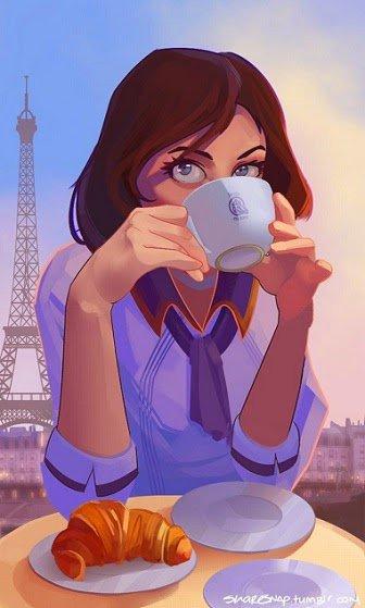 Le matin ici lol....je partage mon café avec vous !