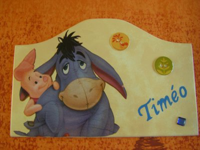 Nouvelle Plaque pour un petit Timéo