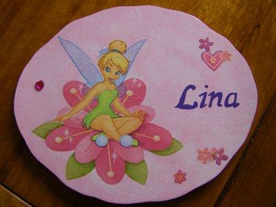 Plaque de Porte pour une petite princesse prénommée Lina