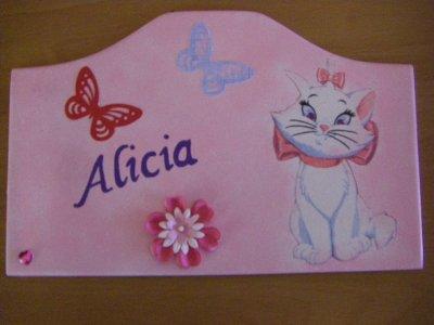 Nouvelle Plaque de Porte pour une petite Alicia