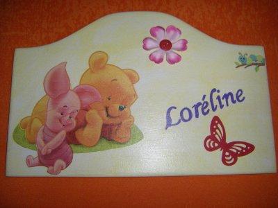 Plaque de Porte pour Loréline