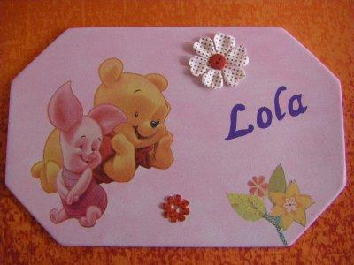 Plaque de Porte pour une petite Lola