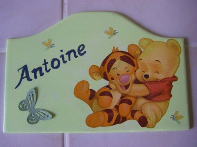 Plaque de Porte Winnie Calin pour Antoine