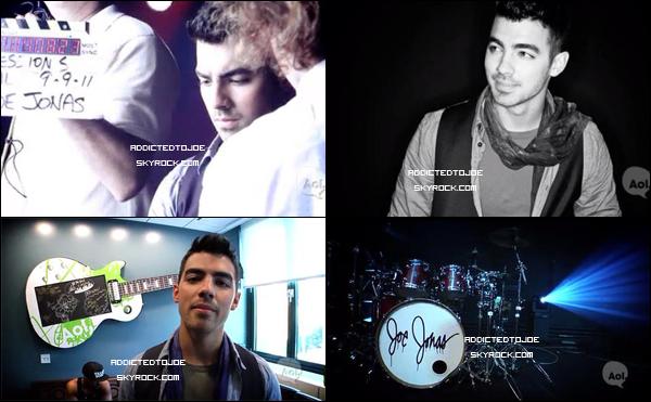 """25 novembre 2011 :  Voici quelque captures d'écran de """"Video Behind the sessions AOL"""" de notre cher Joe. Si vous souhaitez en voir plus, cliquez sur l'image !"""