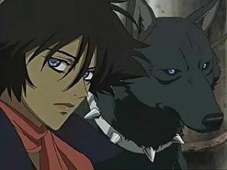 Personnage de wolf's rain : Blue et Quent son maître