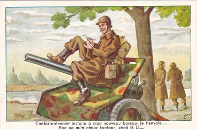 """L'armée Française plongée dans la """"drôle de guerre"""""""