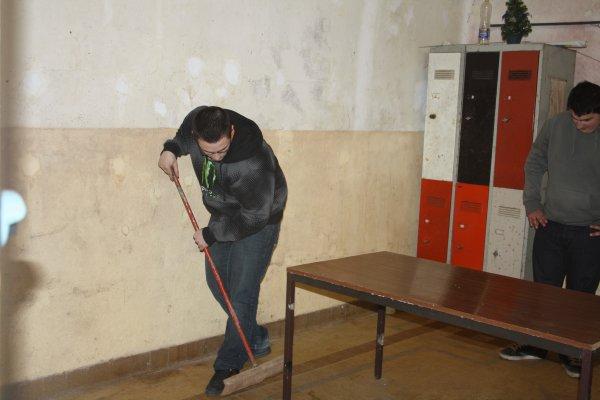 Nettoyage de la salle de réunion