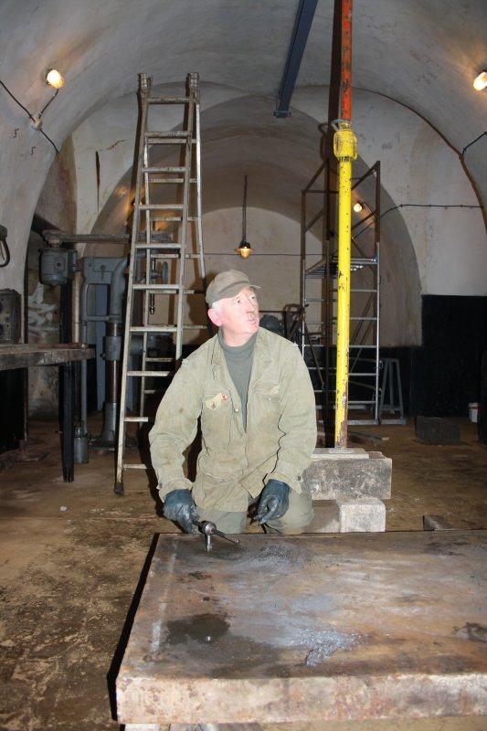 Jean-Claude à l'atelier