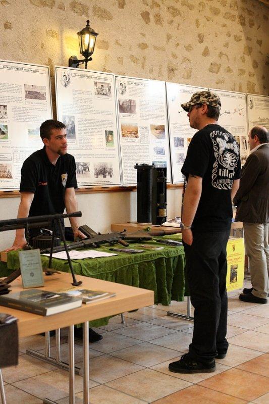 Exposition du 22 avril à Ebersviller : Le stand du Michelsberg