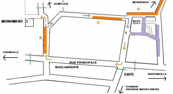 18 juin à Dalstein : Parcours du défilé