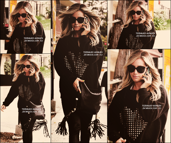.  25/04/12 : Ashley quitté le salon de coiffure « Andy Lecompte » dans West Hollywood.  .