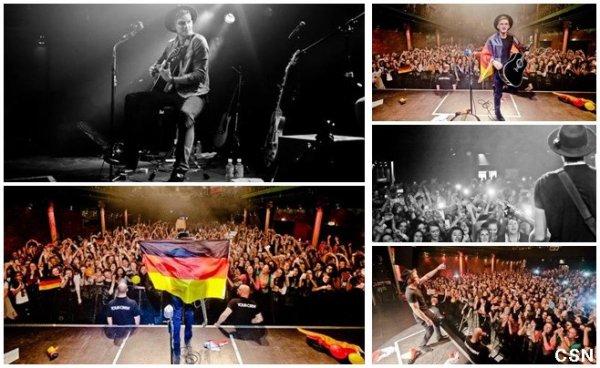 6ème concert de sa tournée européenne!