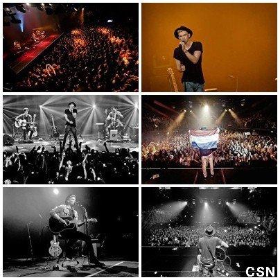 7ème concert de sa tournée européenne!