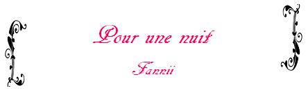 One-Shot n°3 de Fannii