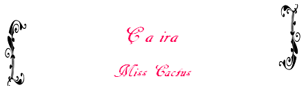 Ficlet n°1 de Miss Cactus