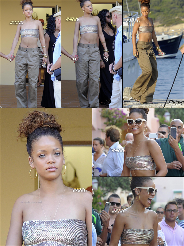 - 27.08.11 : Rihanna en Sardaigne-