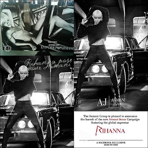 - 08.09.11 : Rihanna pose pour Armani -