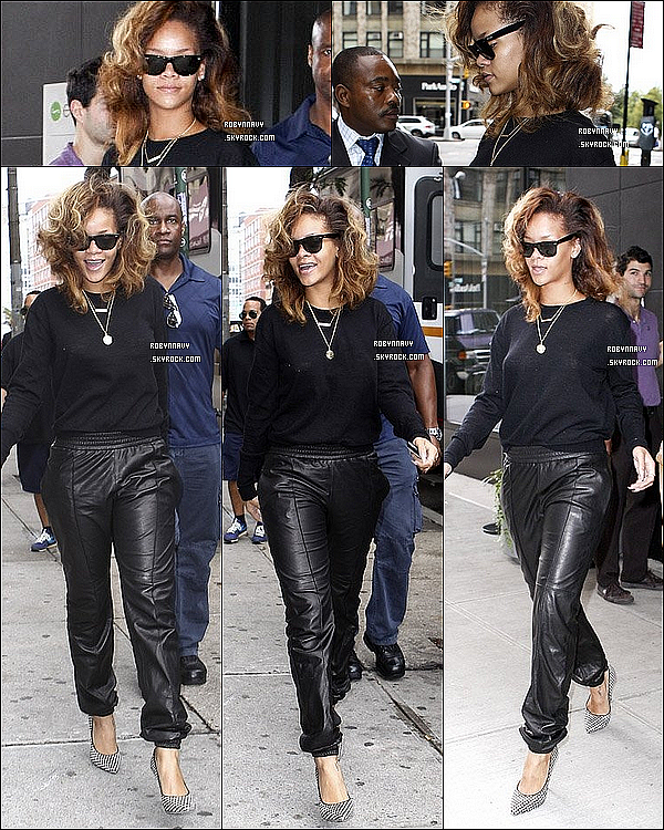 - ~ 10.09.11 :  Rihanna quitte son hôtel à New-York . Top ou flop ?-