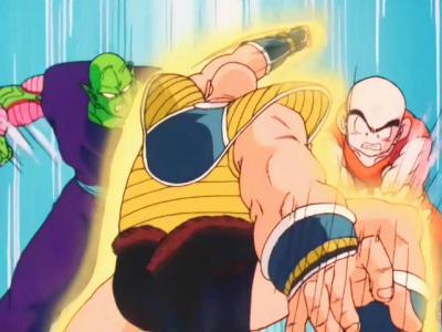 Piccolo et Krillin vs Nappa