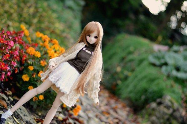 Petite sortie dans le jardin avec Melody