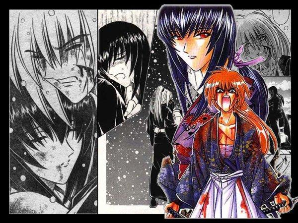 Kenshin ( kan il avais 16 an ) avc ca femme Tomoe
