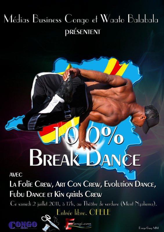 """Concours : """"100% Break dance"""" vise à faire cette danse une discipline responsable"""